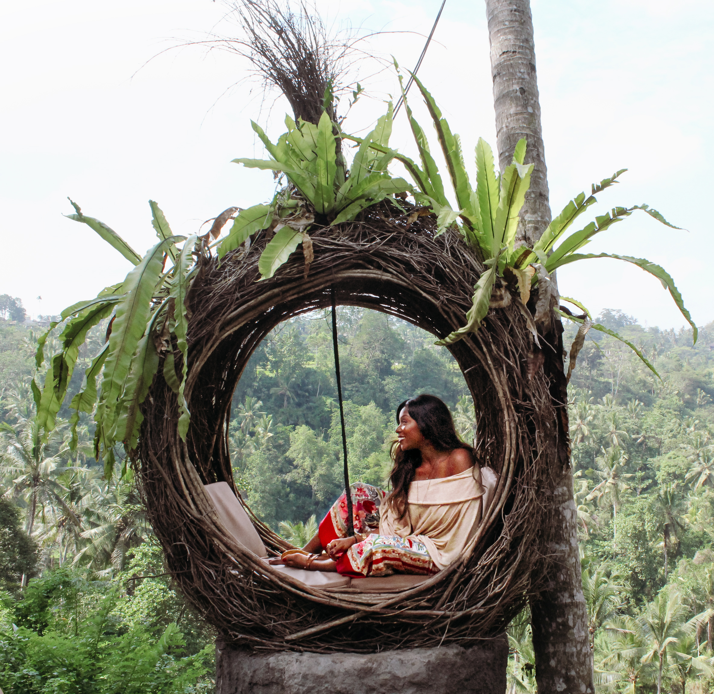 Karis renee Ubud Bali swing