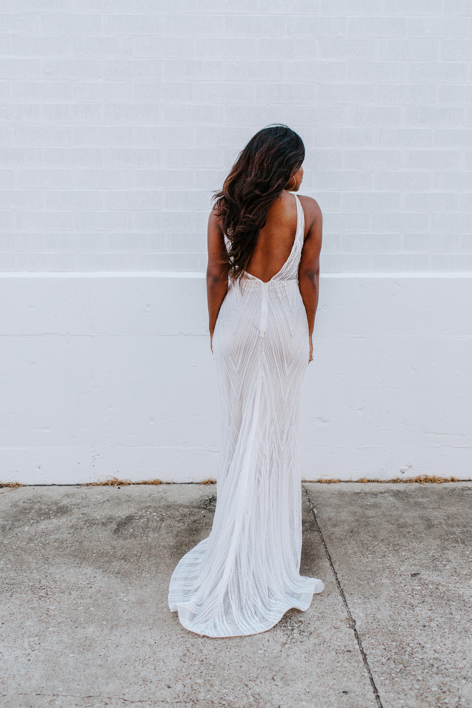 Karis Renee at A & Bé Bridal shop wedding dresses